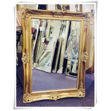 A10 - CLASSIC WALL MIRROR ORNATE DESIGN ANTIQUE GOLD FRAME