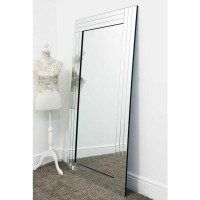 AD12-FLOOR STANDING TRIPLE BEVELLED MIRROR