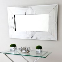 AD15-RETRO BEVELLED ART DECO WALL MIRROR
