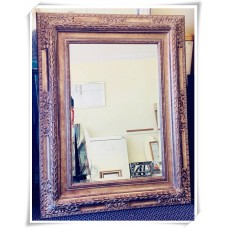 AD09 -ORNATE TIMBER GOLD LARGE WALL MIRRORS