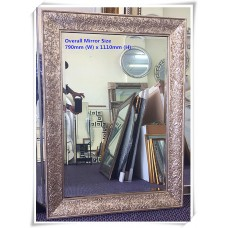 AD28-CARVED CHAMPAGNE SILVER ANTIQUE STYLE FLOOR AND WALL MIRROR