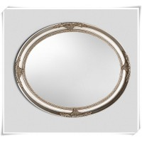 AD31-CHAMPAGNE SILVER LARGE OVAL WALL MIRROR