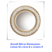 AD36-ANTIQUE ROUND INTERTWINED DECORATIVE WALL MIRROR