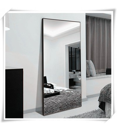 AD37-FULL LENGTH METAL FLOOR MIRROR STANDING OR HANGING