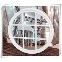 AD23-ROUND WHITE WINDOW PANE MIRROR